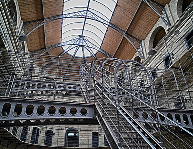 The Victorian part of the prison, showing the catwalks to and from the cells