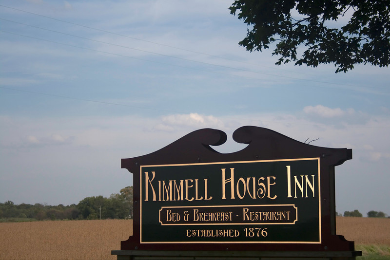 """Daytime Road Sign<br />  <a href=""""http://www.kimmellhouseinn.com"""">http://www.kimmellhouseinn.com</a>"""