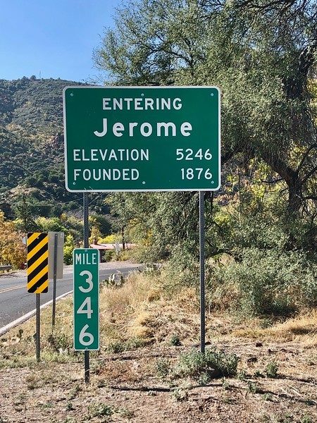 Jerome lies 100 miles north of phoenix and 45 miles southwest of flagstaff. Although the town endures, (pop. 457), by the 1950s the last of the mines (gold, silver, ore) had ceased operation. (see separate gallery.) at its peak in the 1920s, jerome boasted 10,000 denizens. a heady tourism trade has been sparked by its recent  designation as a national historical landmark. what's there? Lots of mom-and-pop stores and a plenitude of cool artifacts to photograph.