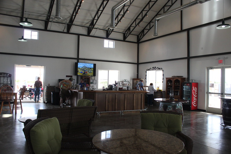 View of the tasting bar.