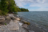 Lake Ontario shoreline near Shingle Beach in Kingston