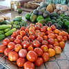 Fruits and vegetables at the market in Bequia island of St Vincent.