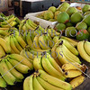 Bananas at the market in Bequia island of St Vincent.