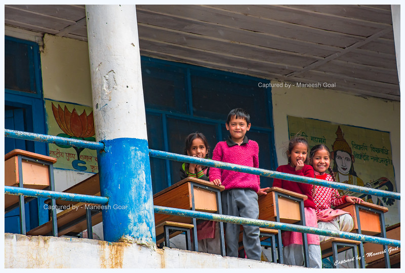 School kids are thrilled to see us. Pedcha Village