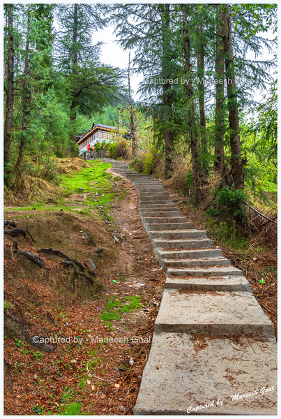Steps that descend to the pretty Pedcha village