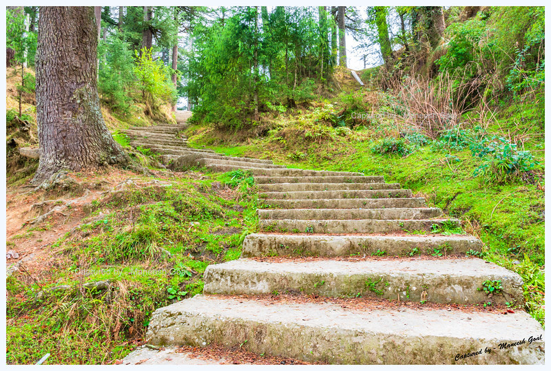 Steps that descend to the main Bahu village.