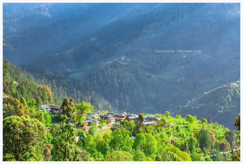 View of Tirthan Valley from Shringi Rishi Temple road.
