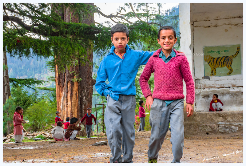 School kids. Happy to pose. Pedcha village.