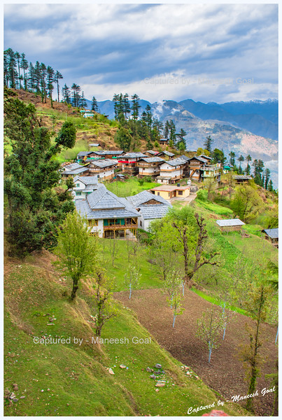Charming Bahu village - comprising traditional Himachali houses. Looks like a place stuck in time.