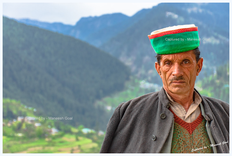 Friendly Himachali man - chatted with us a while - en route Bahu village