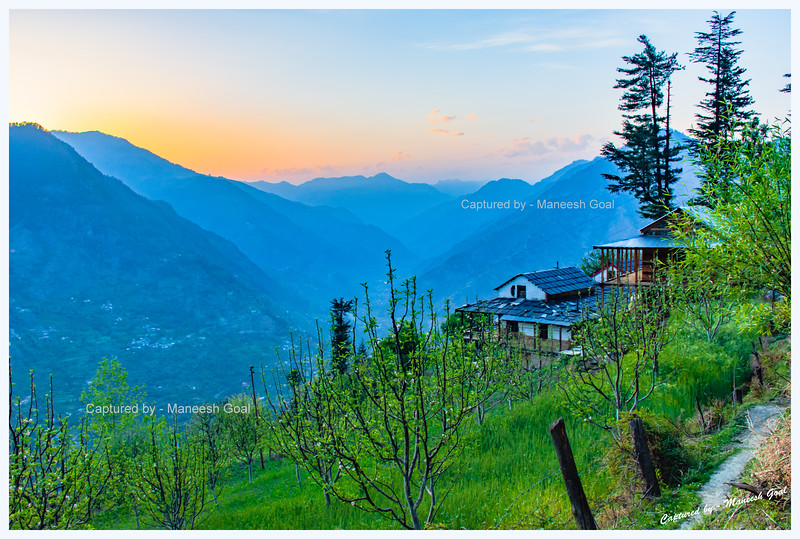 Tirthan Valley - Banjar region at sunset.