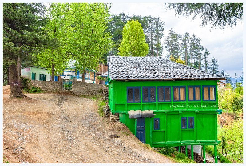 This green structure is a Government veterinary clinic. Beautiful, what? Bahu.