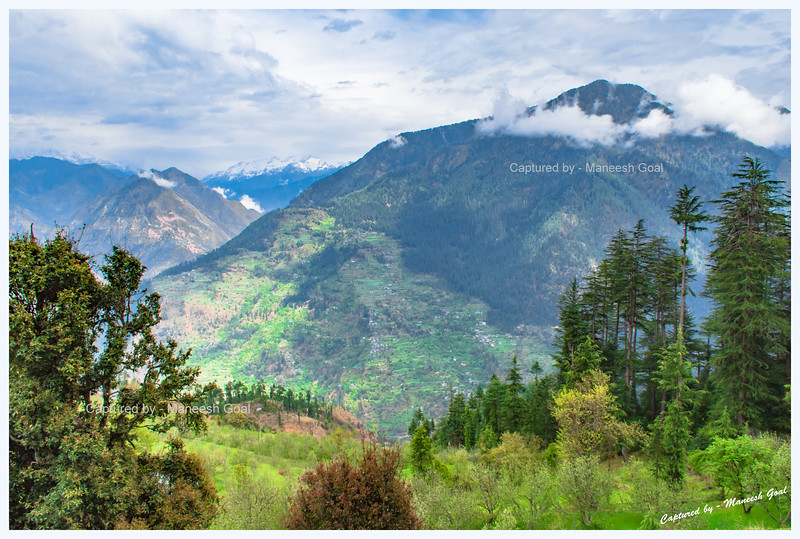 View of Jibhi valley from Bahu village.