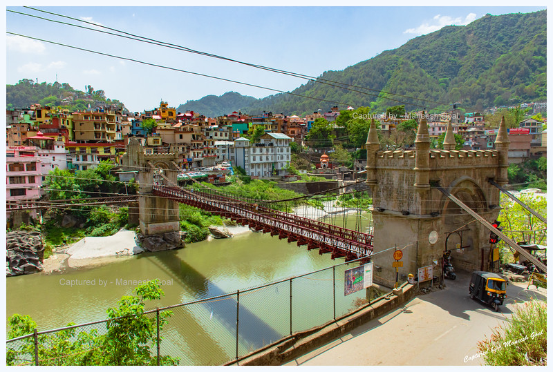 Victoria Suspension Bridge over Beas River in Mandi. Was built in 1877.