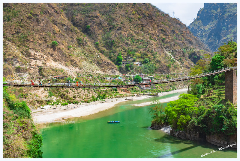 Jhula Bridge at Hanogi over Beas River. Leads to Hanogi Mata Temple.