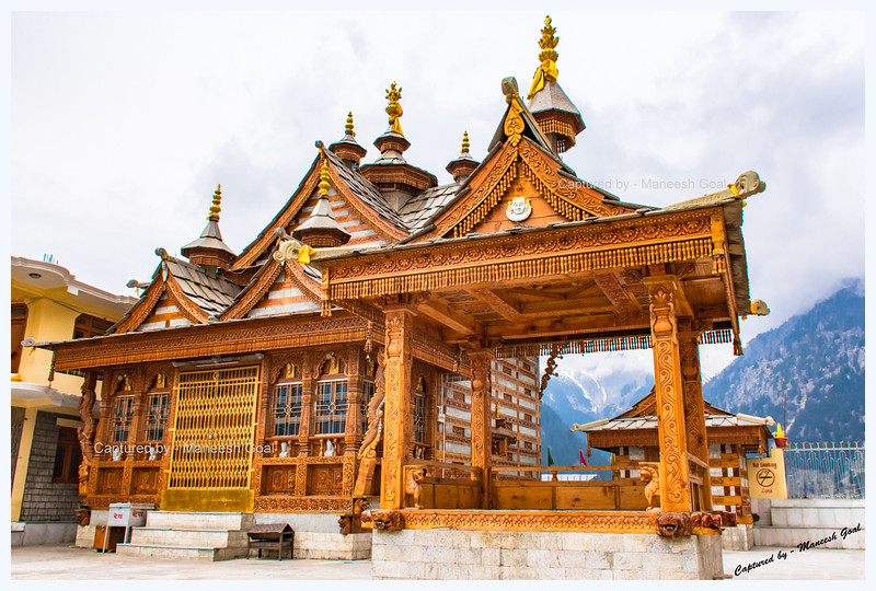 A Temple in Pangi - demonstrating the intricate and exquisite Himachali architectural style.