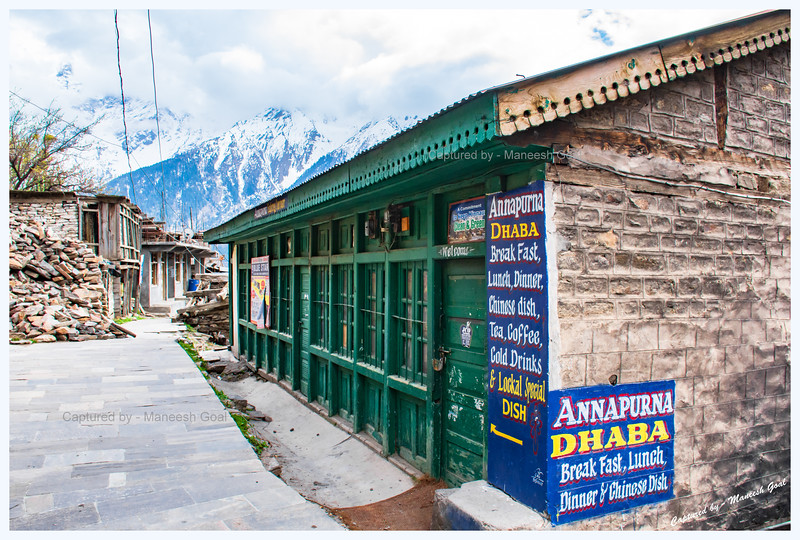 A pretty dhaba we found while taking a walk in Kalpa town