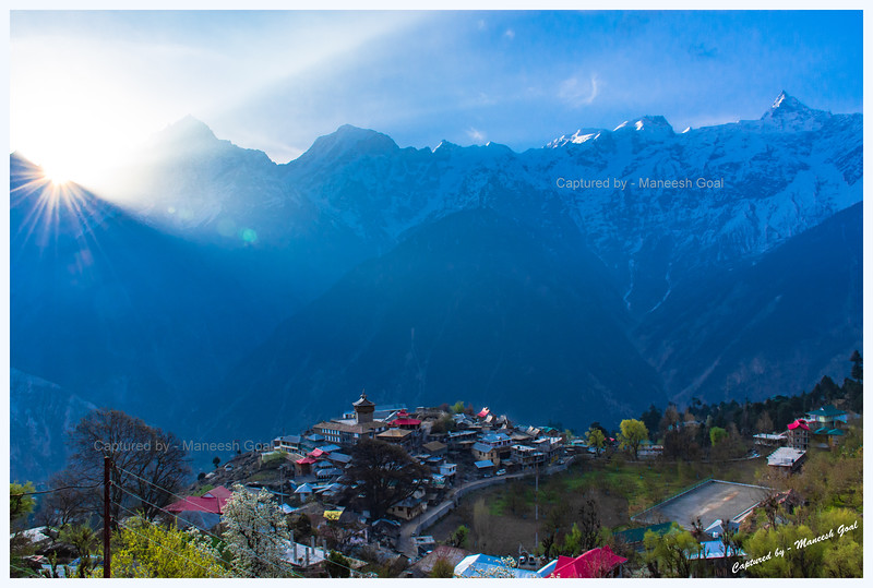 Sunrise in Kalpa.