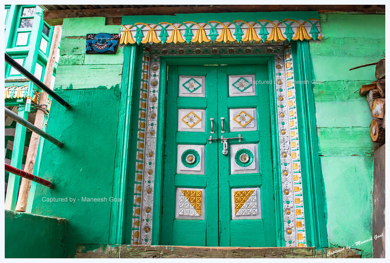 Beautiful door. Pangi Village.