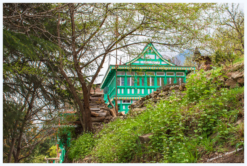 Traditional Himachali house in Pangi village.