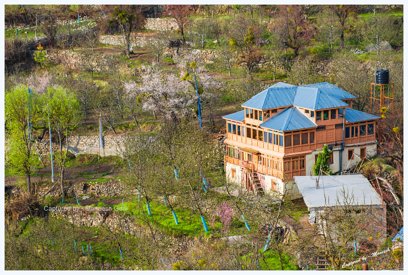 Beautiful house with orchards around it. Kalpa.