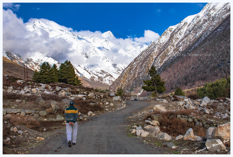 Road to ITBP Camp at Nagasthi - the last point up to which civilians are allowed. Chitkul. Baspa River.