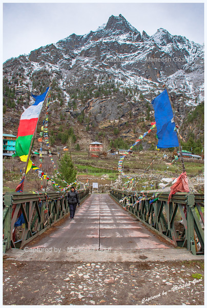 The Bridge Over the River Baspa. Rakcham