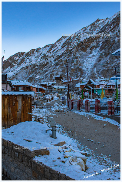 It snowed overnight. Chitkul, before sunrise.