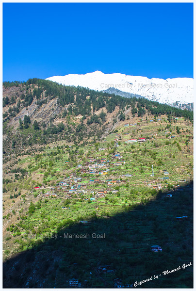 Gorgeous village in Sangla valley on the other side of Baspa River