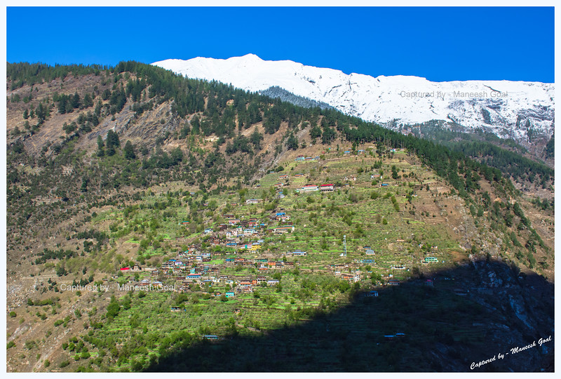 Gorgeous village, mostly comprising traditional Himachali houses, in Sangla valley on the other side of Baspa River