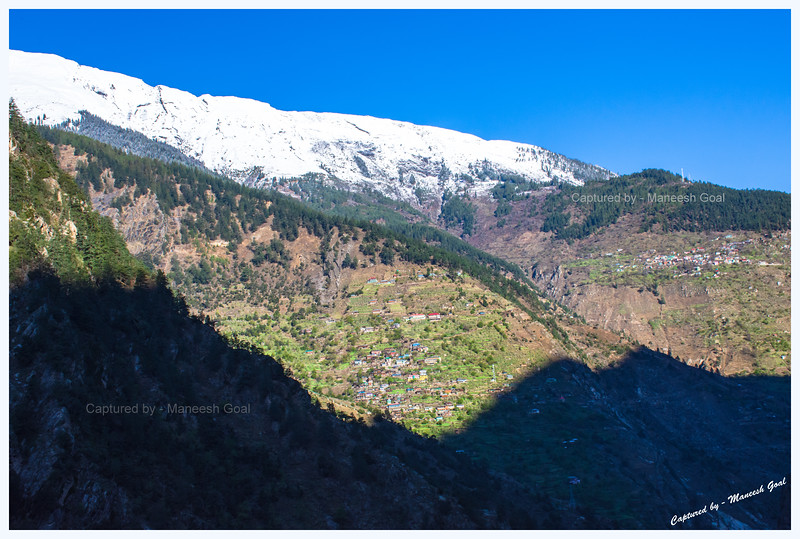 Villages in Sangla valley on the other side of Baspa River