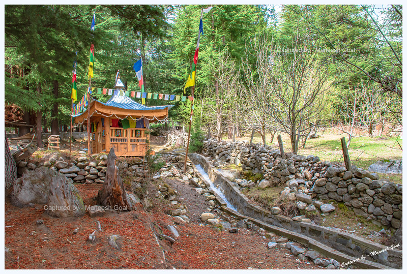 A small temple at the back end of Batseri. It's a nice quiet place with woods in the background.