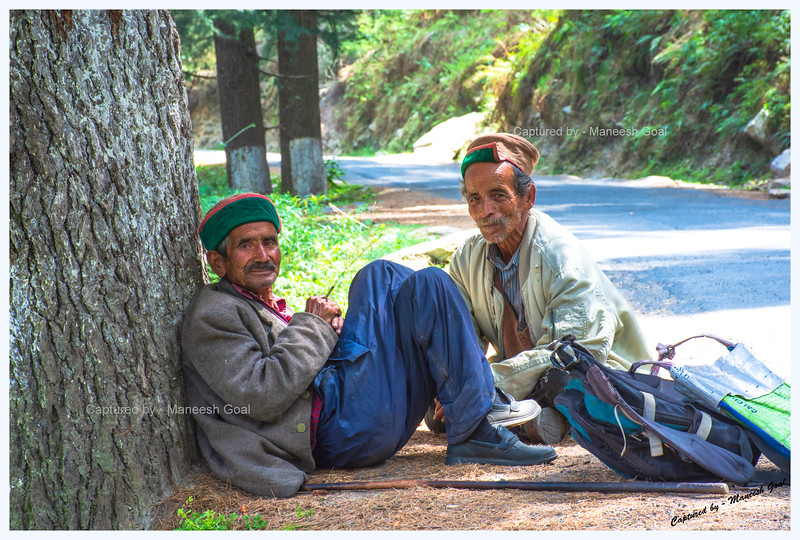 The elderly gentlemen, who were enjoying a break, were startled when I asked if I could take their pictures.