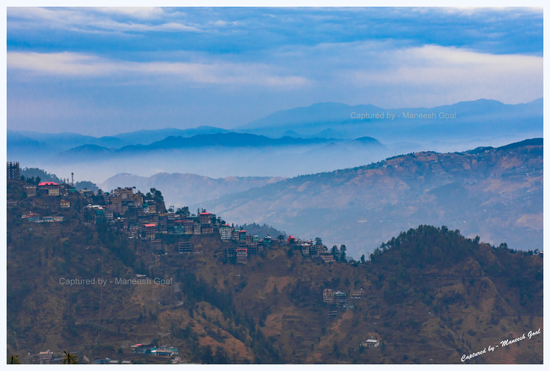 An overcast evening. Shot in the outskirts of Shimla en route Narkanda
