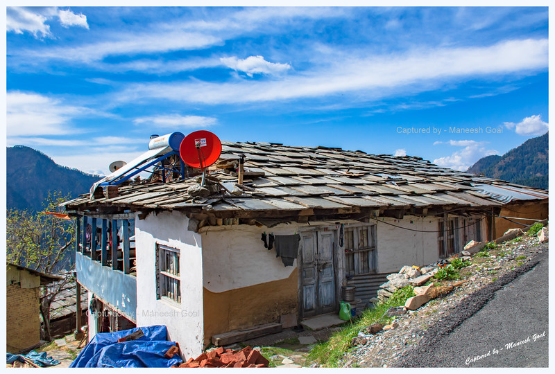 Traditional Himachali house at the pretty hamlet called Shoja