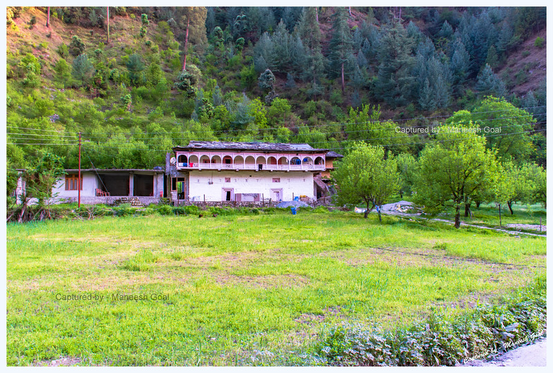 Traditional Himachali house in Tirthan Valley