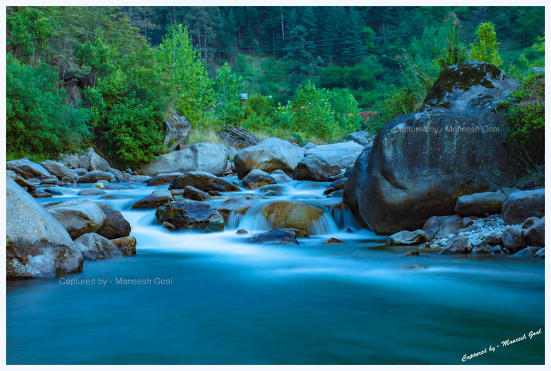 Tirthan River - a long exposure shot taken late in the evening