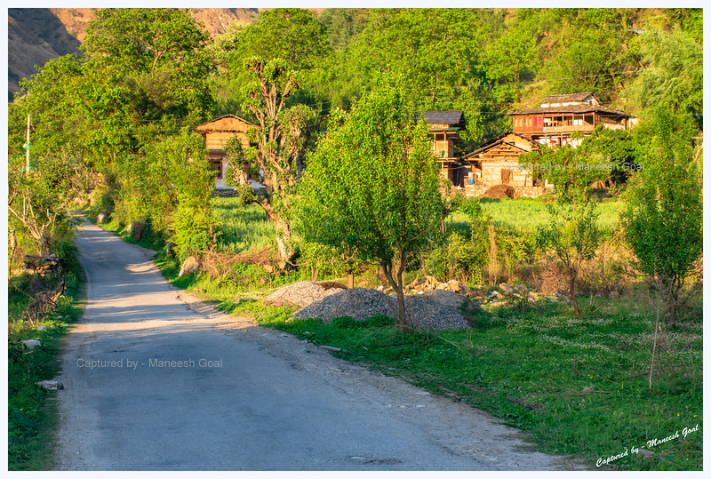 Pretty road in Tirthan Valley, near Nagini