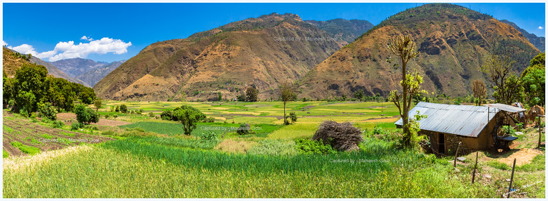 Panoramic view of the beautiful fields we encountered en route Jalori Pass