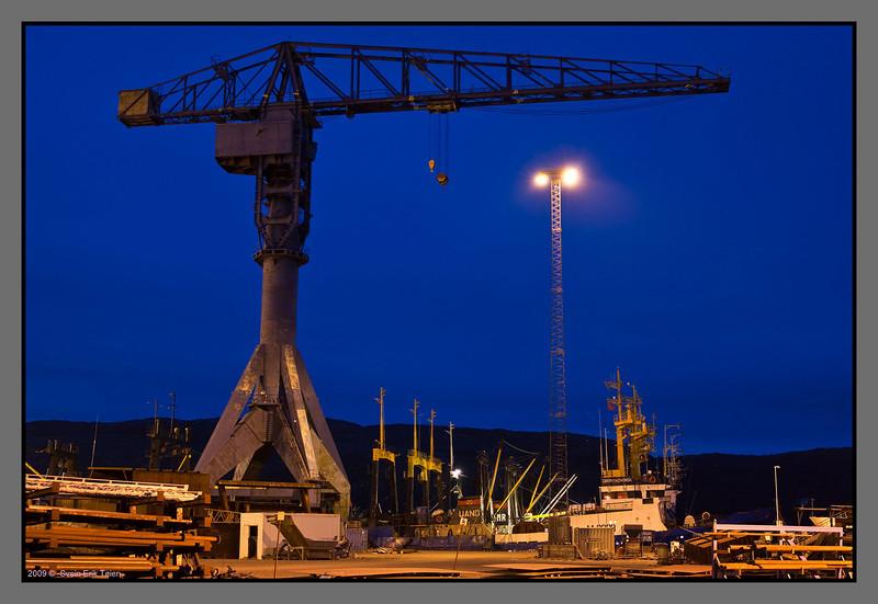 Crane at Kimek shipyard