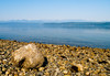 Looking across Hood Canal at the Olympic Range from the beach near Kitsap Memorial State Park