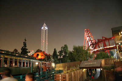 A decent hand-held shot of the park after dark