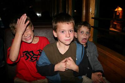 The boys enjoying their train ride