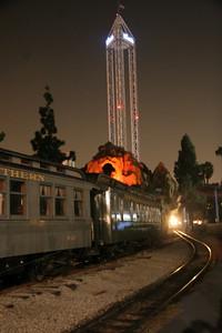 The Supreme Scream looms over the railroad track