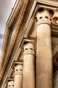 167/365 - June 20, 2012 - Corinthian Columns   This evening between work and meeting some guys from church for dinner, I took advantage of Lisa and the kids being at her parents and ventured downtown for my daily shot.  This shot is of the front facade of First Baptist Church on Main Street.