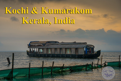Kochi & Kumarakom, Kavanattinkara, Kottayam, Kerala, India.  Kochi (Cochin) is a major port city on the south-west coast of India by the Arabian Sea and the Laccadive Sea. It is part of the district of Ernakulam in the state of Kerala.  Kumarakom is a popular tourism destination located near the city of Kottayam in Kerala, India, famous for its backwater tourism in the Vembanad Lake, which is the largest lake in the state of Kerala.