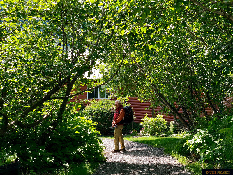 Pam has created beautiful paths from the cabins to the main lodge.