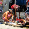 Street scene - 1032 - men bathing