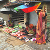 Street scene - 0579 - meat market with umbrellas