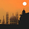 Mosque with setting sun - 0268